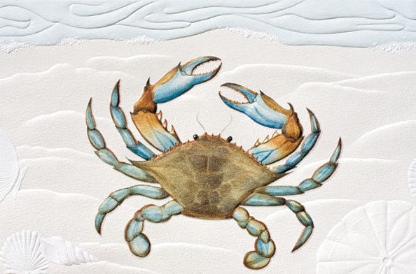 pumpernickel press greeting card blue crab andy thornal company