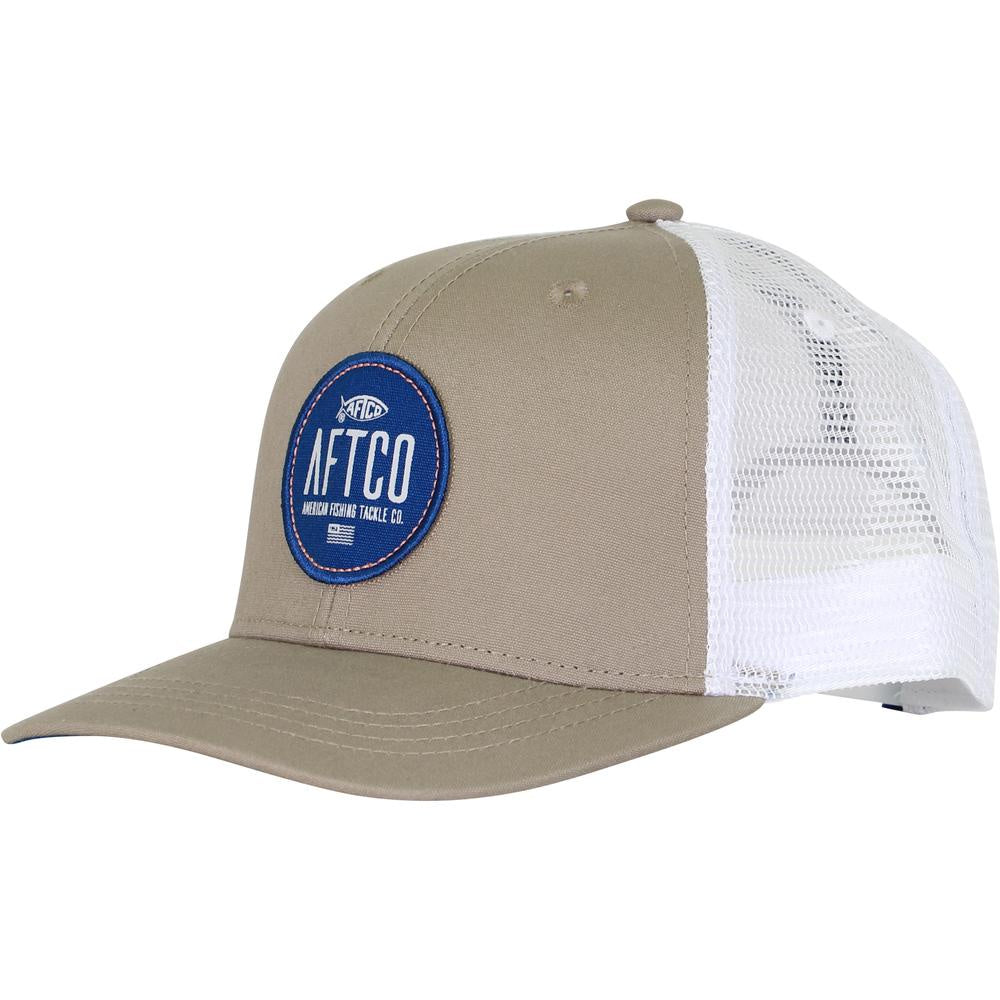 83953b662f19e7 AFTCO Circular Trucker Hat/Khaki - Andy Thornal Company