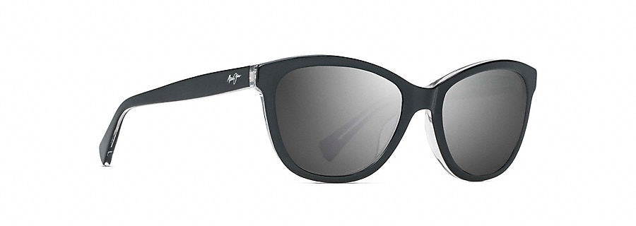 04143de91938f Maui Jim Canna Black with Crystal Polarized Sunglasses Neutral Gray   GS769-02K