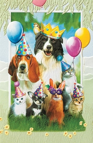 pumpernickel press greeting card party animals andy thornal company