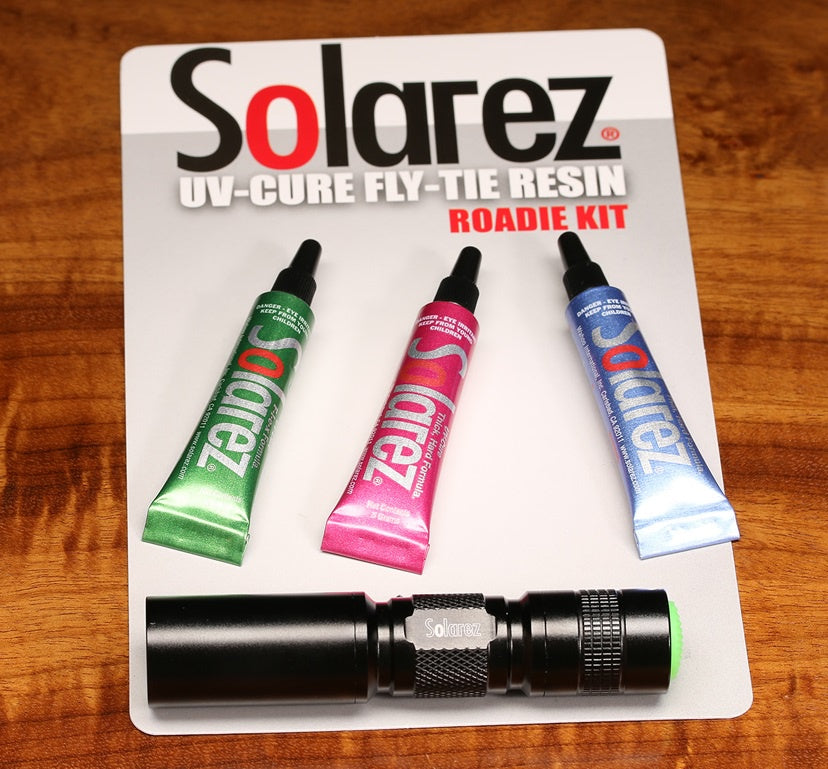 SolaRez Roadie Kit 3 Pack with UVA Cure flashlight