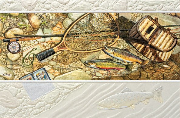 pumpernickel press greeting card fishing gear andy thornal company