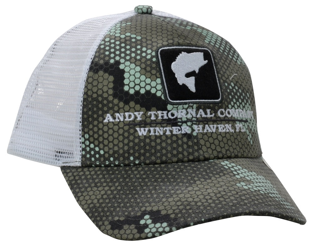 2b958951 Simms CBP Bass Icon Trucker Hat/Hex Camo Boulder - Andy Thornal Company
