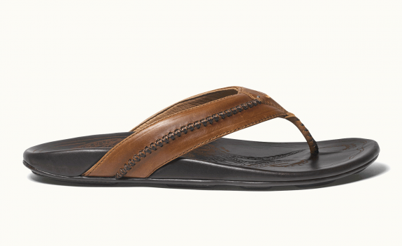 3a6a9f4ee37 OluKai Men s Mea Ola Leather Sandal Tan  10138-3448