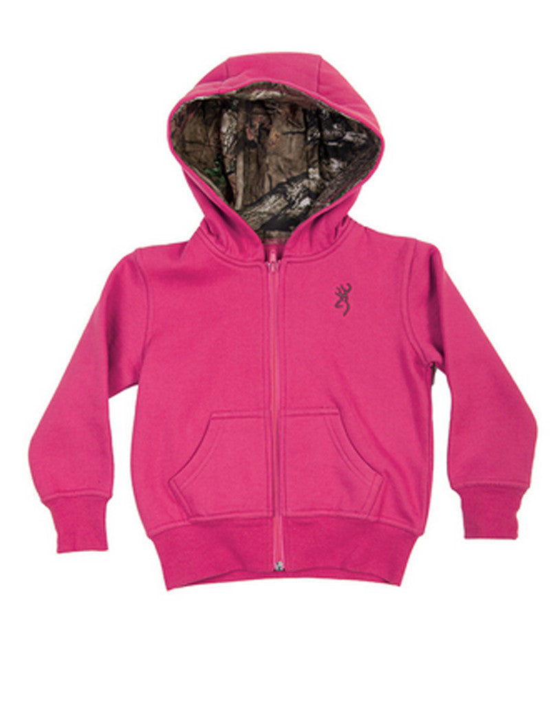 55fffbefcfaf3 Browning Toddler Buckmark Sweatshirt/Fuschia #8500-420-Closeout ...