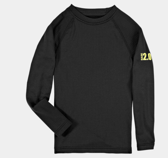 d8f6c49aff Under Armour Youth Base Layer 2.0 Crew Top/Black #1241737