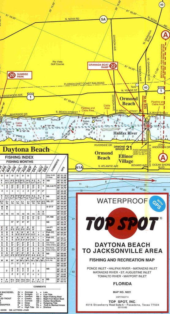 Top Spot Destin To Panama City Area Fishing And Recreation Map