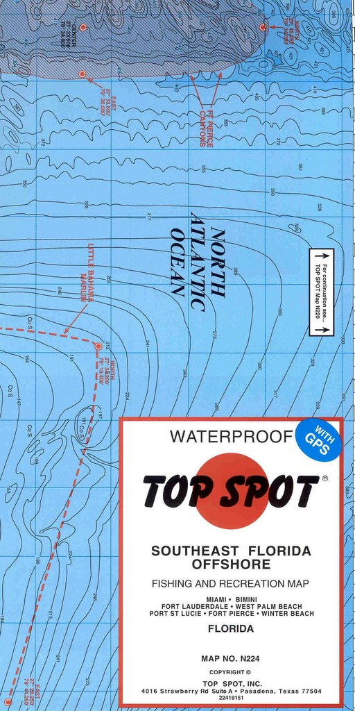Southeast Florida Map.Top Spot Southeast Florida Offshore Fishing And Recreation Map