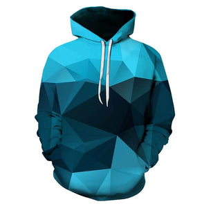 blue space pattern design hoodie