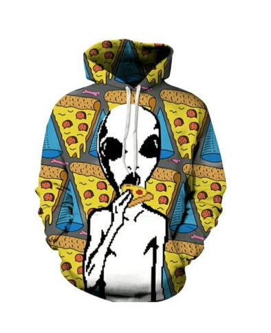 Retro Pizza Alien Eat - Infinite92