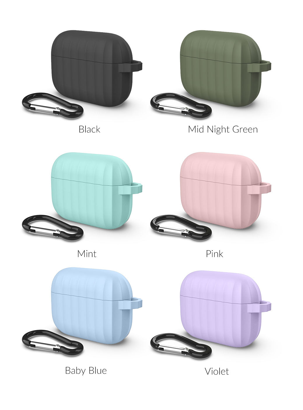 Wavy - AirPods Pro Silicone Case with Carabiner