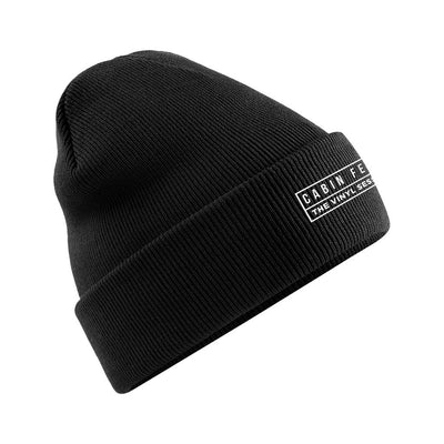 Cabin Fever White Embroidered Logo Beanie Hat-Carl Cox Online Store
