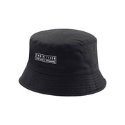 Cabin Fever White Embroidered Logo Reversible Bucket Hat-Carl Cox Online Store