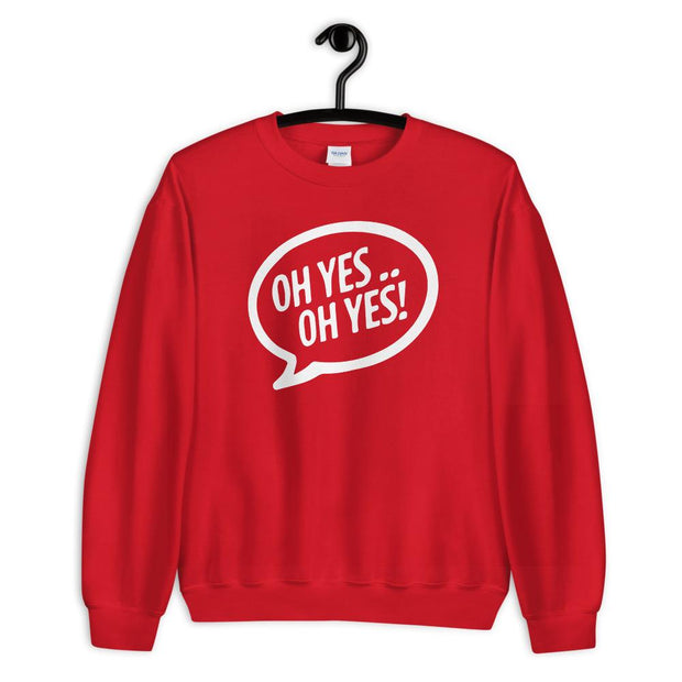 Oh Yes Oh Yes White Text Adult's Sweatshirt-Carl Cox Online Store