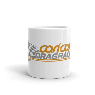 Carl Cox Dragracing Orange And Grey Logo Mug-Carl Cox Online Store