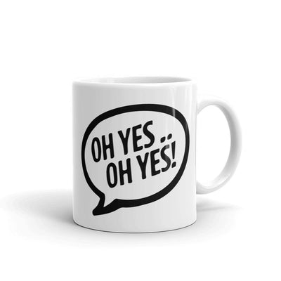 Oh Yes Oh Yes Black Text Mug-Carl Cox Online Store