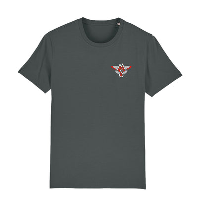 CC Motorsport Red White Logo Front And Back Print Men's Organic T-Shirt-Carl Cox Online Store