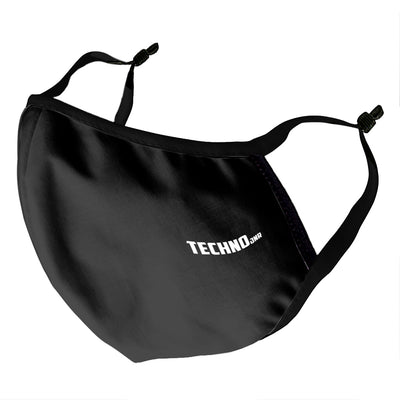 Techno Jnr White Text Kid's Face Mask-Carl Cox Online Store