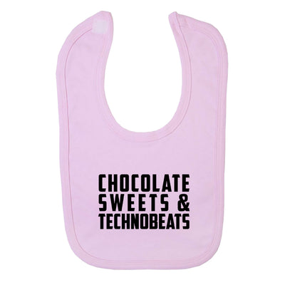Chocolate Sweets And Technobeats Black Text Velcro Bib-Carl Cox Online Store
