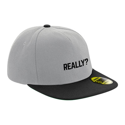 Really? Black Text Flat Peak Snapback Cap-Carl Cox Online Store