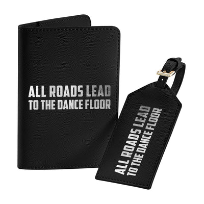 All Roads Lead To The Dance Floor Metallic Silver Text Boutique Leather Look Travel Set-Carl Cox Online Store
