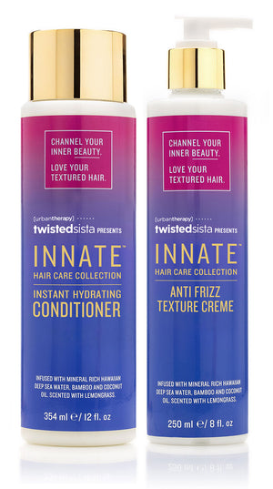 Instant Hydrating Conditioner & Anti Frizz Texture Crème - INNATE Hair Care Collection