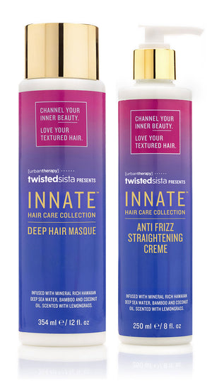 Deep Hair Masque & Anti Frizz Straightening Crème - INNATE Haircare Products for Textured Hair