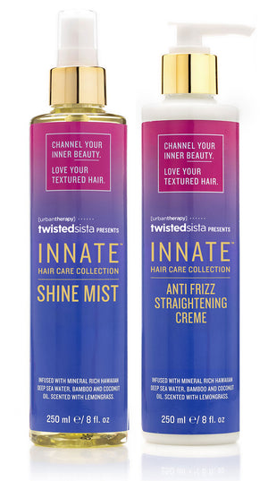 Shine Mist & Anti Frizz Straightening Crème - INNATE Haircare Products for Textured Hair