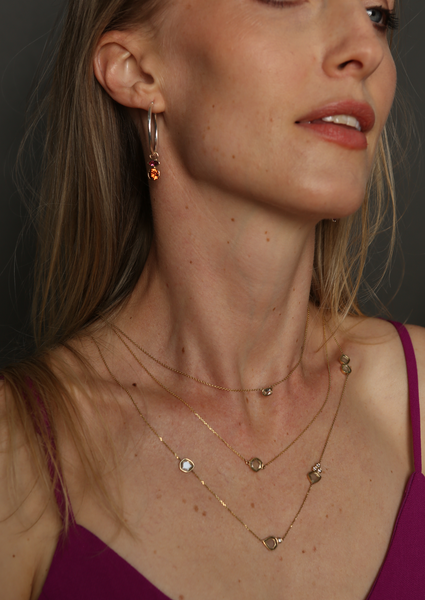Convertible Heirloom - Mandarine Garnet and Pink Tourmaline