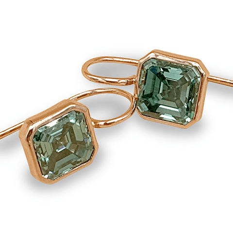 Green Moissanite Earrings