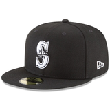 New Era 59FIFTY MLB Seattle Mariners Basic Fitted Hat Black/White