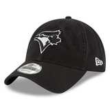 New Era 9TWENTY MLB Toronto Blue Jays Core Classic Adjustable Hat Black/White