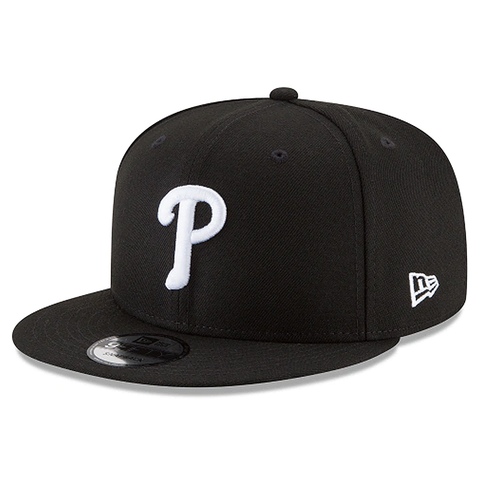New Era 9FIFTY MLB Philadelphia Phillies Team Basic Adjustable Snapback Hat Black/White