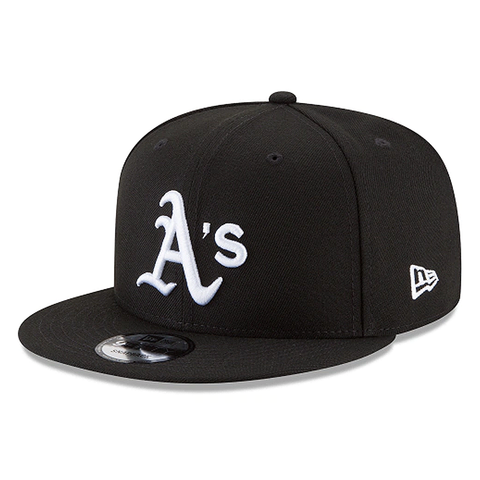 New Era 9FIFTY MLB Oakland Athletics Team Basic Adjustable Snapback Hat Black/White