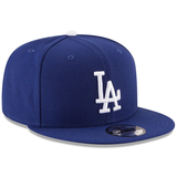 New Era 9FIFTY MLB Los Angeles Dodgers Team Basic Snapback Hat Royal Blue