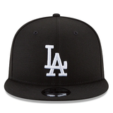 New Era 9FIFTY MLB Los Angeles Dodgers Snapback Hat Black and White