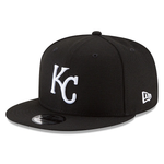 New Era 9FIFTY MLB Kansas City Royals Snapback Hat Black and White