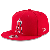 New Era 9FIFTY MLB Los Angeles Angels Team Color Basic Snapback Hat Red