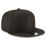 New Era 9FIFTY MLB Los Angeles Angels Snapback Hat Black On Black