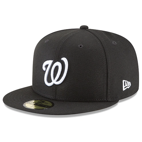 New Era 59FIFTY MLB Washington Nationals Basic Fitted Hat Black/White