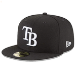 New Era 59FIFTY MLB Tampa Bay Rays Basic Fitted Hat Black/White