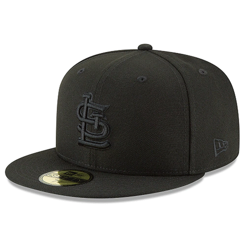 New Era 59FIFTY MLB St. Louis Cardinals Basic Fitted Hat Black Out