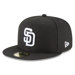 New Era 59FIFTY MLB San Diego Padres Basic Fitted Hat Black/White