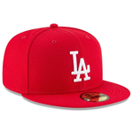 New Era 59Fifty MLB Basic Los Angeles Dodgers Fitted Hat Scarlet Red
