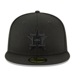 New Era 59FIFTY MLB Houston Astros Black On Black Fitted Hat