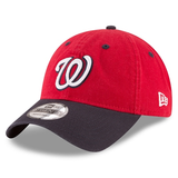New Era 9TWENTY MLB Washington Nationals Core Classic Adjustable Hat Red/Navy