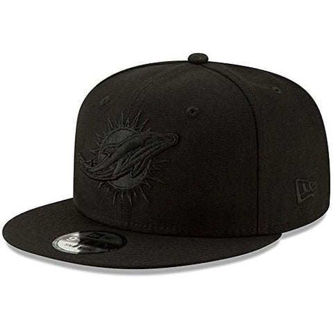 New Era NFL Miami Dolphins Black on Black 9FIFTY Snapback Adjustable Cap