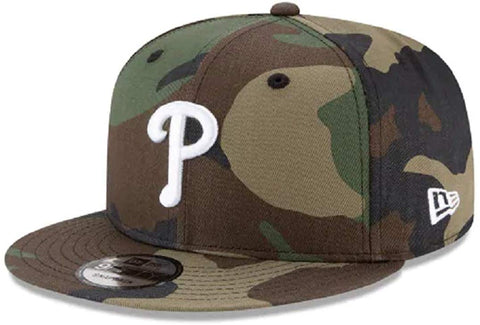 New Era MLB Philadelphia Phillies 9FIFTY Woodland Camo Snapback Cap