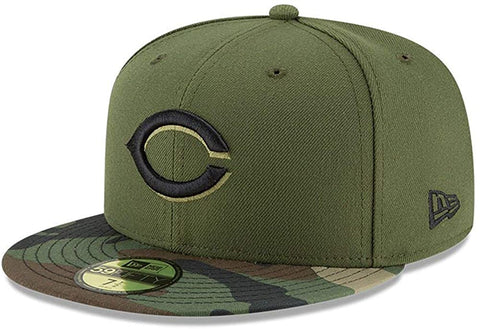 New Era MLB Cincinnati Reds Authentic Green Camo 59FIFTY Fitted Hat
