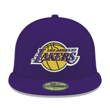 New Era 59FIFTY NBA Los Angeles Lakers Team Color Fitted Hat Purple
